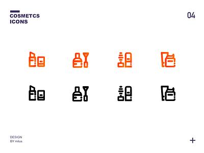 一组化妆品icon 商标 品牌 活版印刷 向量 应用 ux 插图 设计