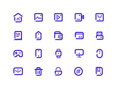 一组工具icon 应用 活版印刷 向量 ui 商标 插图 ux 设计