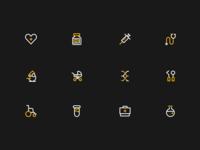一组医疗icon