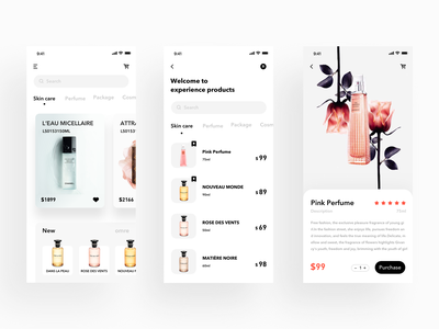 Perfume App web app 品牌 活版印刷 illustration logo ui 向量 应用 插图 ux 设计