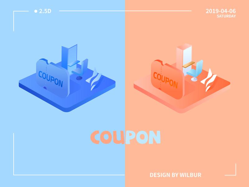 COUPON design illustration 设计 插图