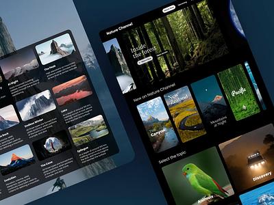 Nature Channel Streaming App Concept — General movie netflix dark ui stream video streaming ux trendy design app clean interface ui inspiration