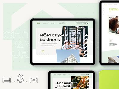 H.O.M - website branding website ux ui design design