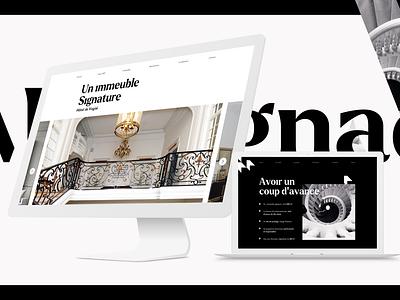 Martignac - One pager ui website digital ux ui design design