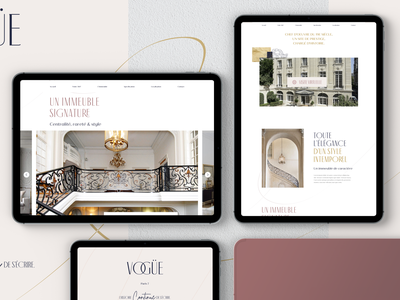 Vogüe - Onepager ui website ux ui design digital design