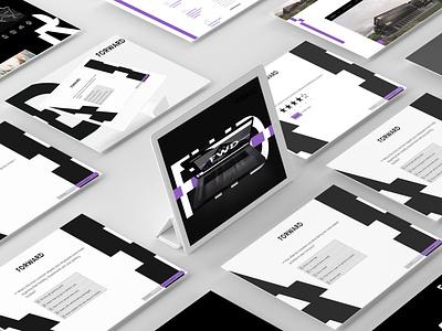 Forward - Interactive presentation ui website ux ui design digital design
