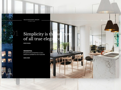 Buckingham Green website ux ui design design digital saentys