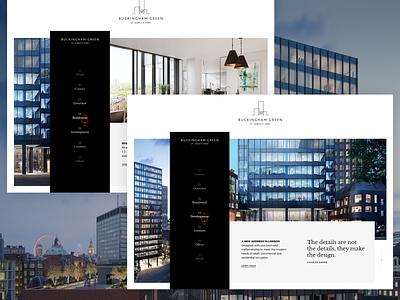 Buckingham Green retail website ux ui design digital design saentys