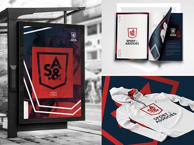 Sport&Associés etude Branding vector logo branding print