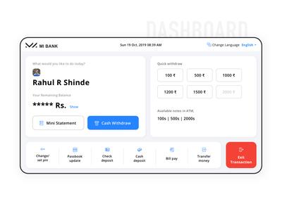 ATM Dashboard | UX UI Design Concept