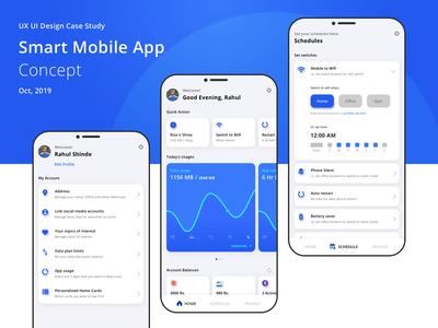 Smart Mobile App Concept | UX UI Design Case Study