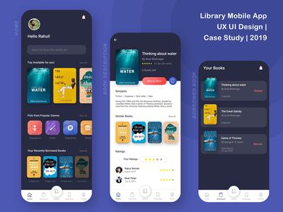 Library Mobile App | UX UI Design Case Study