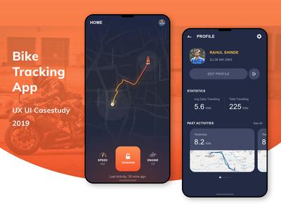 Bike Tracking Mobile App | UX UI Case Study | 2019