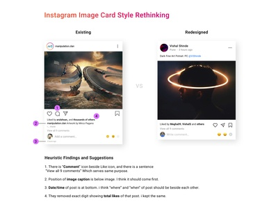 Instagram post card style UX Rethinking | Case study