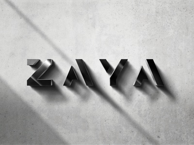 Zaya - Logo Design automobile car vector germany corporate branding logo typography illustrator branding design