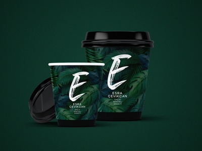 Esra Çevikcan - To Go Cup Design packaging coffee hairdresser hair salon turkey corporate branding logo typography illustrator branding design
