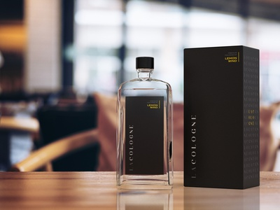 LaCologne - Packaging Design cologne luxury label packaging fragrance typography illustrator branding design