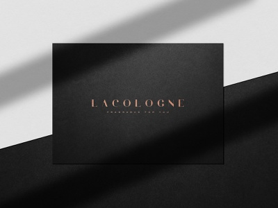 Logo Design - LaCologne luxury fragrance cologne corporate branding logo typography illustrator branding design