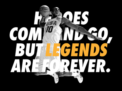 Kobe Bryant - Legends are forever kobe bryant nba basketball typography illustrator design