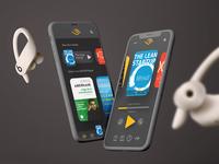 Audible app concept redesign app