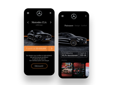 Mercedes CLA - Design sales app. ux ui mercedes-benz mercedes minimalist branding design app