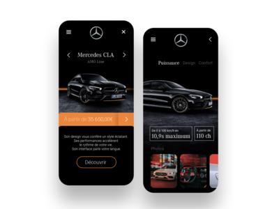 Mercedes CLA - Design sales app.