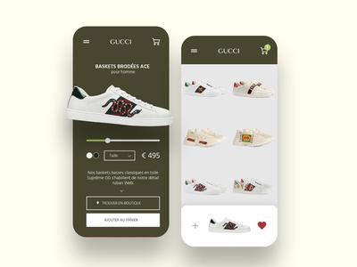 Gucci - App design concept