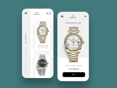 Rolex - app UI/UX Design