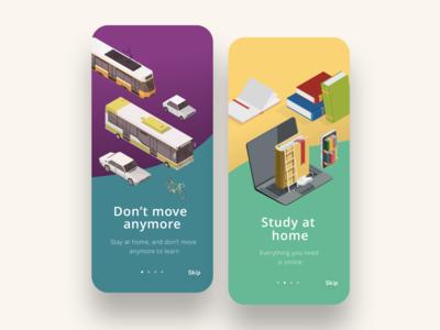 Educational app - onboarding UI/UX
