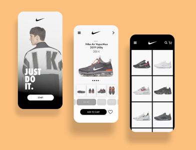 Nike - concept app store UI/UX