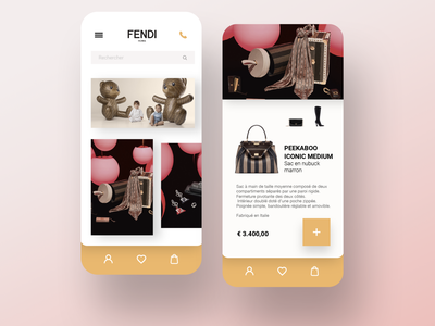 FENDI e-commerce luxury concept app