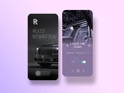 Rolls royce car light interface UI/UX