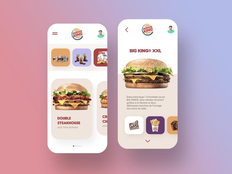 Burger King App Store concept adobexd store ecommerce ux ui uiux burger design app
