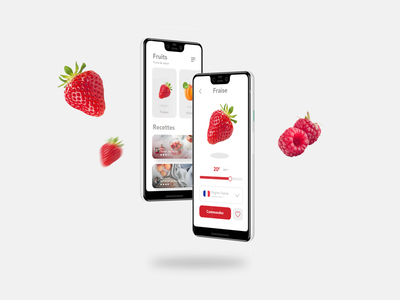 Fruits app design 🍑🍓