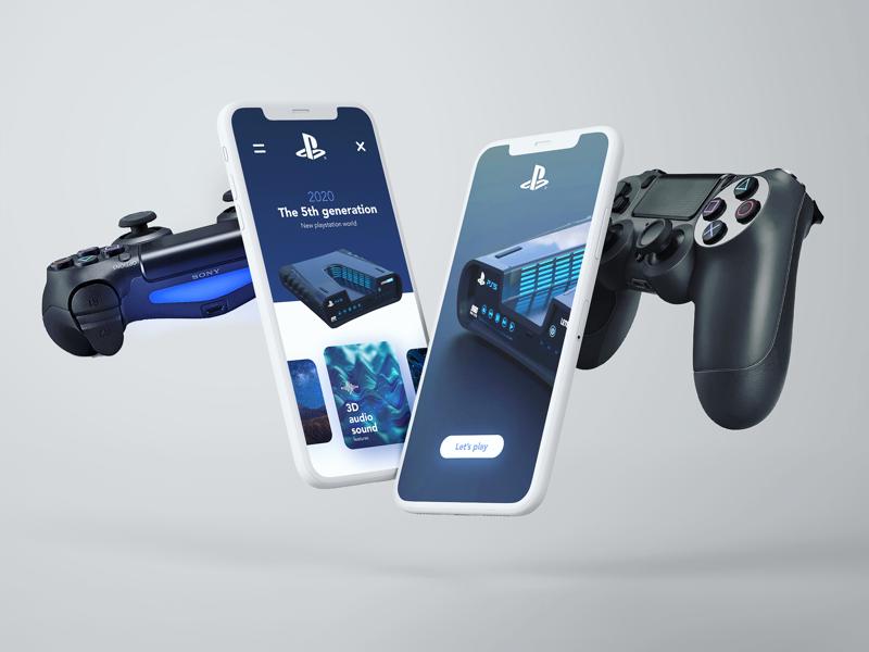 Ps5 concept ui design uidesign playstation ps5 gaming game design ux ui