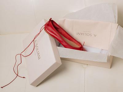 A. Soliani Shoe Packaging fashion logo shoebox shoe