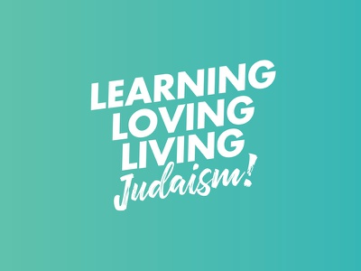 Slogan jewish judaism jew living loving learning