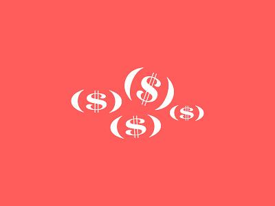 Chanukah Gelt (Money)  typographic pile dollars money gelt