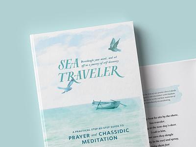 Sea Traveler bookcover birds row boat sea cover book watercolor