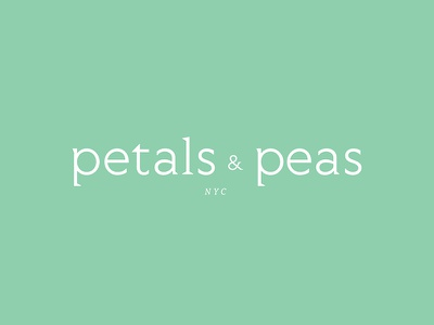 Petals & Peas logo nyc ampersand clothing brand logo baby flower peas petals