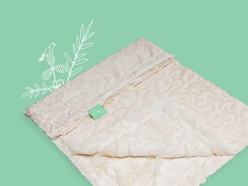 Cuddle Blanket Banner product styled flowers bird blanket cuddle