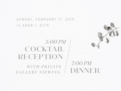 Silver Invite white silver type invite floral eucalyptus typography