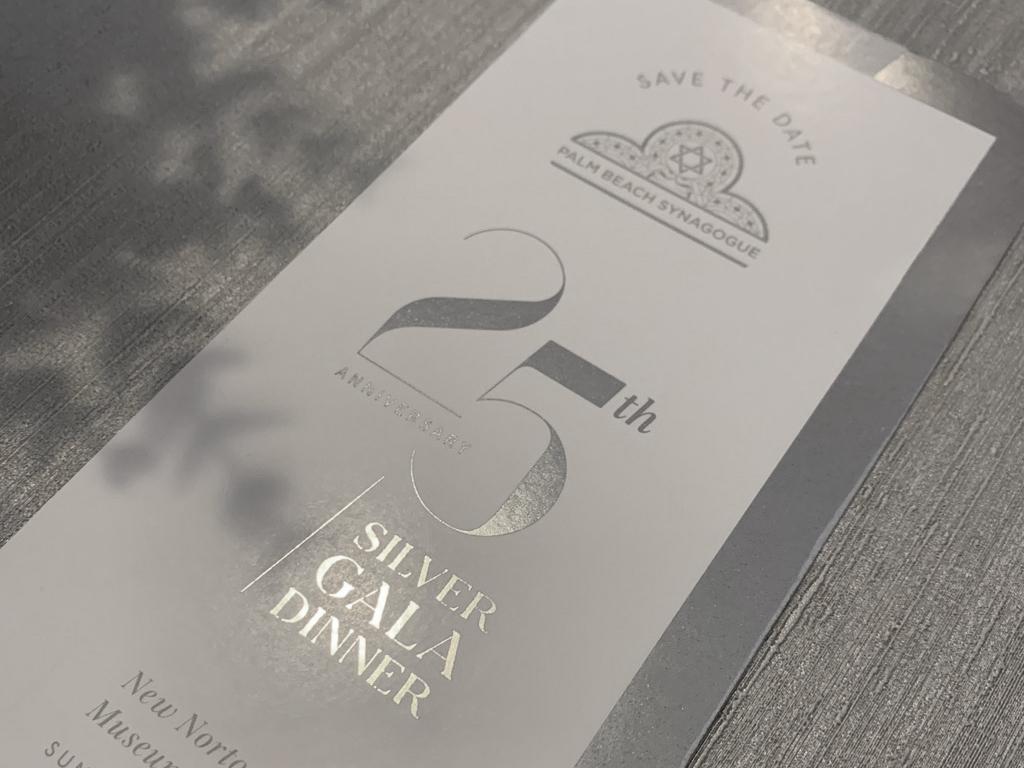 Foil Gala Dinner Invite years 25 dinner gala silver foil