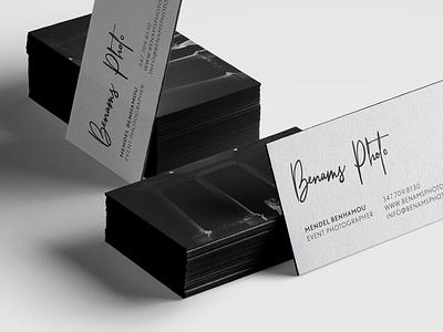 Photographer Business card phoenix logo photographer white black card signature