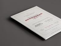 Beefsteak Invite vintage typographic invite beefsteak