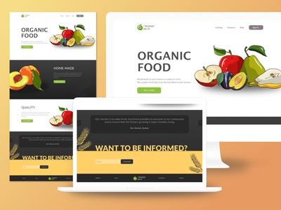 The concept of landing for the farmer's online store
