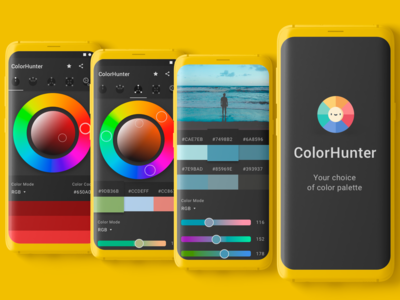A mobile app to determine the color scheme