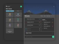 Web UI/UX Design for the habits/tasks app Dark mode