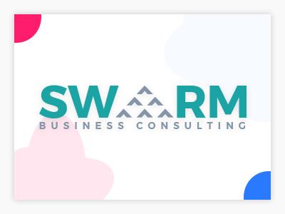 Swarm Business Consultant Logo branding illustration logo