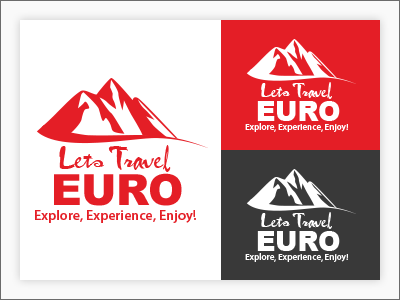 Euro Travel Agency travel agency branding design illustration logo